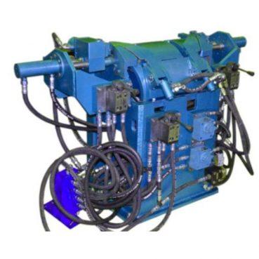 Установка механизированная для формовки секций тяговых электродвигателей