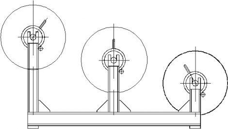 Стойка с тормозом для натяжения проводов