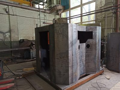 Сборка металлоконструкций камеры обдува статоров